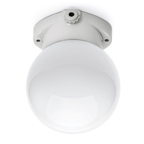 Stropna svetilka LISILUX z mlečnim steklom 75 W